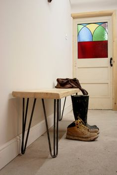 Hand crafted hairpin leg bench built to size por TheRetroStationUK