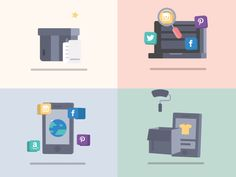 Living devices by MacWojcik on Dribbble Animation Process, Gif Collection, Motion Graphics, Illustration, Inspiration, Inspired, Design, Biblical Inspiration, Illustrations
