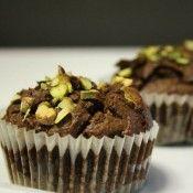 Muffin al cioccolato, pistacchio e zenzero
