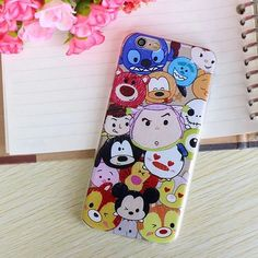 Various Style Cartoon Mickey Transparent Soft TPU Cover for Apple Iphone 6/6S Plus 5.5 inch Soft Protective Shell BSJK1181