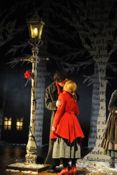 Once Upon A Blog...: Other Theatrical Snow Queen Productions (Pt 4): Rose Theater (with Su Blackwell's Lovely Sets)
