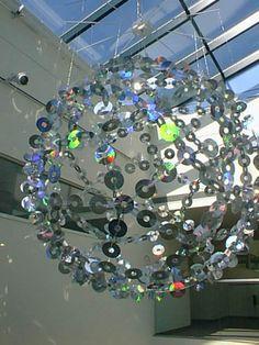 Gigantic CD chandelier!