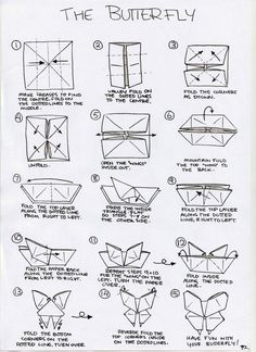 Tutorial To Fold An Origami Swallowtail Butterfly Created By Evi