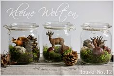 House Kleine Welten & eine leckere Apfeltorte (Herbstdeko Diy Basteln) House Little Worlds & a Tasty Apple Pie (Fall Decor Diy Crafting) Christmas Time, Christmas Crafts, Christmas Decorations, Xmas, Christmas Candles, Table Decorations, Courge Halloween, Fall Crafts, Diy And Crafts
