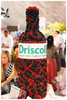 Our berry wine bottle at Pebble Beach Food & Wine, 2013. Can you guess the number of berries on it?