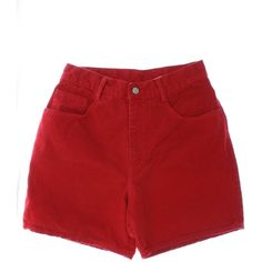 1990's Vintage Waves Shorts: 90s -Waves- Womens red background thick cotton denim, five pocket, high waist wicked 90s casual shorts with standard belt loops and...