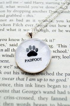 Padfoot Harry Potter Fandom Necklace Curious por CuriousOwlDesign, £7,99