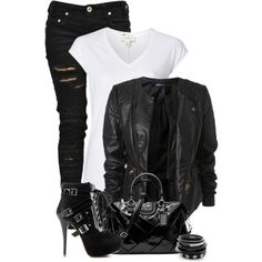 """""""Biker Chick"""" by fashion-766 on Polyvore"""