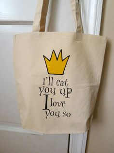 Where the wild things are tote bag, where the wild things are, Max tote bag. $14.00, via Etsy.