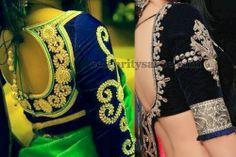 3/4th Sleeves Kundan Blouses | Saree Blouse Patterns