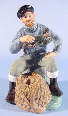 """Royal Doulton """"The Lobster Man"""" Figurine : copyright 1963"""