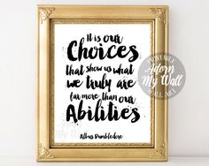 printable,wall art, Dumbledore quote,Albus Dumbledore, Harry Potter,Harry Potter quote,Harry Potter print,harry potter art,Harry potter gift by AdornMyWall on Etsy