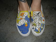 more shoes. Zentangle inspired.