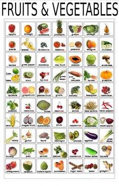 English vocabulary - Fruits and vegetables by elinor English Resources, English Tips, English Activities, English Food, English Study, English Lessons, Learn English, English English, English Online