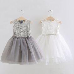 Детские кружева платье принцессы 2018 летнее платье новые девушки Дети дети марлевые платье суб КЗ-3305-Таобао