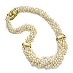 Cultured pearl and gold necklace, Suzanne Belperron, 1964