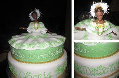 #panamanian #pollera #cake #barbie #tembleques #necklaces #fondant #icing