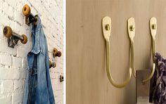 Τα ρούχα που έχουμε ήδη φορέσει δεν ξαναμπαίνουν στην ντουλάπα, μαζί με τα καθαρά. Δείτε, λοιπόν, πώς μπορείτε να τα τακτοποιείτε όμορφα και... με στιλ, σε πρωτότυπες αυτοσχέδιες κρεμάστρες! Bathroom Hooks