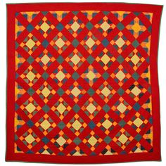 Mennonite Variable Stars Quilt   From a unique collection of antique and modern more folk art at http://www.1stdibs.com/furniture/folk-art/more-folk-art/