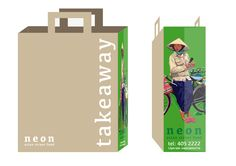 For neon 'asian street food' restaurant on Camden Street, Dublin 2, We created the brand design using Caught Outside illustrations and photography. The imagery was applied to a variety of uses from bags and menus to exterior and interior graphics.