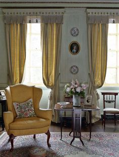 Restoring a Georgian ancestral home | Period Living loving the shape and style of the chair