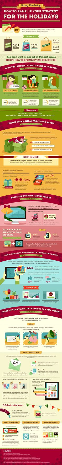 How to give your Holiday Marketing Campaign a boost Using Social Media And Search engine optimization techniques - #infographic #socialmedia #SEO