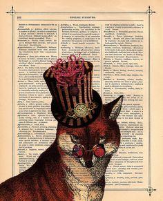 #Steampunk #fox