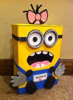Minion Valentines Day box