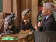 Anderson Cooper covers for Oscar the Grouch... :D