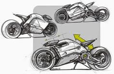 Honda Cruiser ? Sketches by Jean-Thomas MAYER.