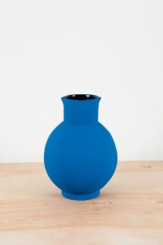 Beautiful blue vase. Love the color.