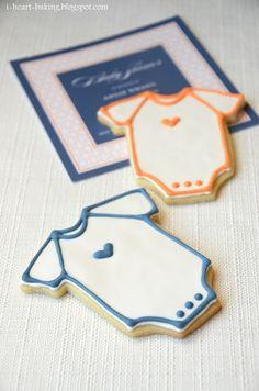 Baby shower onesie cookies - sugar cookies with royal icing