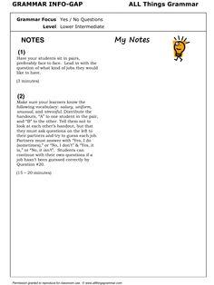 English Grammar Yes/No Questions (Present Simple) www.allthingsgrammar.com/yes--no-questions-present.html