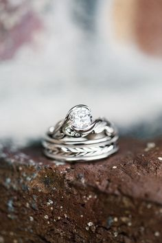 wedding rings from Beard Hill Elopement shoot http://www.trendybride.net/beard-hill-michigan-elopement/