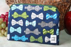 Items similar to Zippered Snack Pack - Bowties on Etsy Snack Pack, Bowties, Diaper Bag, Packing, Etsy Shop, Zipper, Snacks, Facebook, Bags