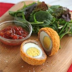 Scotch eggs - easy oven baked version