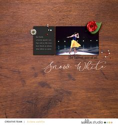 Disney Snow White Ballet digital scrapbook layout using Project Mouse (Princess) Snow White | Journal Cards & Kit by Britt-ish Designs and Sahlin Studio