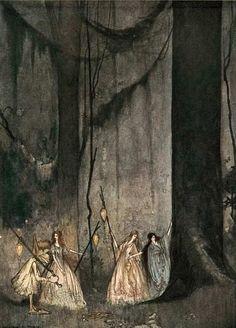 """thefaeriefolk: """" The Forest Fairies by William Mitcheson Timlin """""""