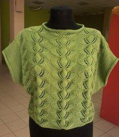 Летний пуловер с очень красивым узором (Вязание спицами)   Журнал Вдохновение Рукодельницы