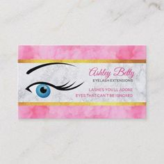Eyelash Extensions Business Cards - spa gifts diy cyo customize #DiyEyeCream Prevent Ingrown Hairs, Spa Gifts, Aloe Vera Gel, Eyelash Extensions, Eyelashes, Business Cards, Things To Come