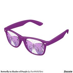 Butterfly in Shades of Purple Party Sunglasses