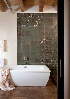 Modern / Asian / Industrial... Contemporary Bathroom by laurel quint interior design