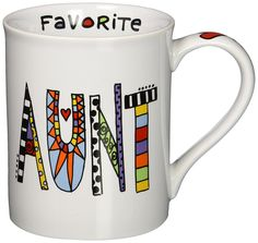 Our Name Is Mud by Lorrie Veasey Cuppa Doodle Aunt Mug, 4-1/2-Inch -- Check this awesome product by going to the link at the image.