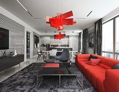 """Check out new work on my @Behance portfolio: """"Red Living Room"""" http://be.net/gallery/37613269/Red-Living-Room"""