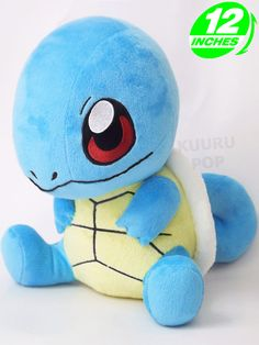 Pokemon Squirtle Plush  Choose the water starter with one of our cute Squirtle plushes! These Pokemon toys feature some great detailing including an embroidered face, along with its big shell and curled tail.  - Plush is approx 30 cm / 12 inches tall. - Brand new with tags. - Ages 6 & up.