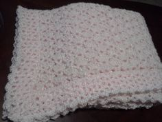 Shimmering Pink Baby Blanket/Afghan by Csquareds on Etsy, $30.00