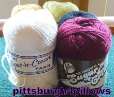 6  Sugar & Cream  Cotton Yarn  Worsted 4 Ply by pittsburgh4pillows