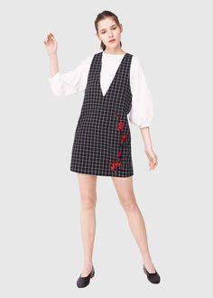 Платье с принтом и вышивкой | MANGO МАНГО