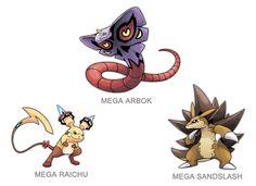 Kanto Mega Pokemon 024, 026, 028 by SilentGPanda.deviantart.com on @DeviantArt