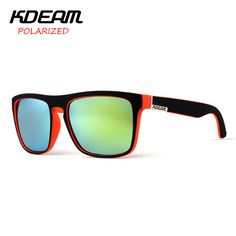 0e153266e9cb81 KDEAM 2016 Polarized Sunglasses Men Women Brand Designer Sport Sun Glasses  6 Colors UV400 Driving Fishing Gafas De Sol-in Sunglasses from Men s  Clothing ...